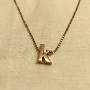 """K"" Pendant Necklace"